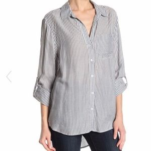 e937bcee7 Velvet Heart High-Love Grey Striped Button Down